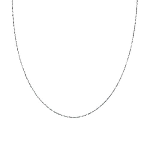 925 Solid Sterling Silver Diamond Cut 1.3MM ROPE Chain Necklace MADE IN ITALY- Thin,silky and SUPER Strong and Rhodium Plated 18'' (Rhodium Plated Sterling Silver Chain)