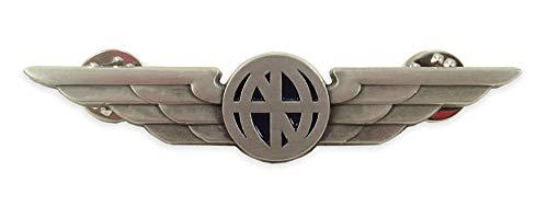 Luso Aviation Pilot Wings Aviator's Shirt Lapel Pin (Silver)