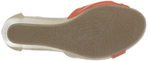Citygate 910470 - Sandalias de cuero para mujer Naranja (Orange (orange/beige 62))