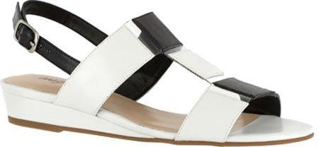 Easy Street Kvinna Havana Wedge Sandal Sandaler Vit / Svart