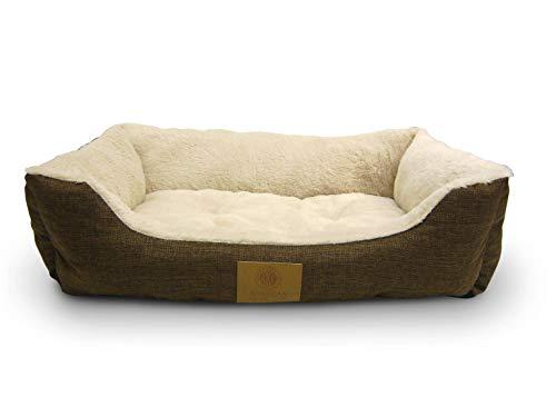 American Kennel Club AKC6466BROWN Burlap Cuddler Pet Bed
