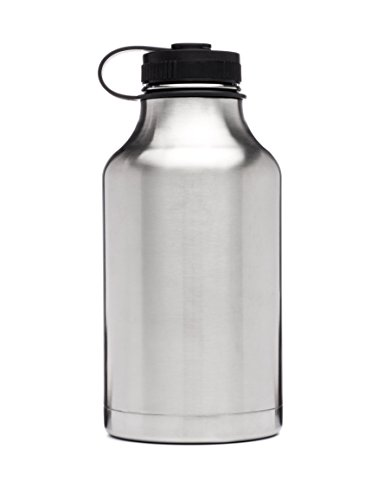 Growler - Stainless Steel Vacuum Insulated - 64-Ounce Wide Mouth - Keep Beverages Cold (Refrigerator Beverage Container compare prices)