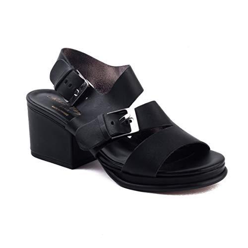 Robert Clergerie Women's 'Erol' Leather Heel Sandal Black