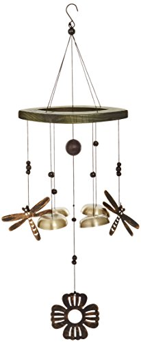 Jade Garden 3811082 2 Dragonfly Wind Chime with Bells