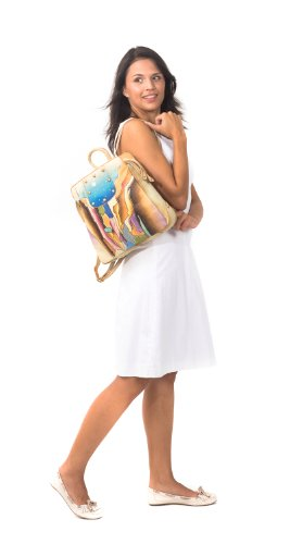 Zimbelmann Lesley - Bolso mochila  de Piel para mujer Marrón marrón