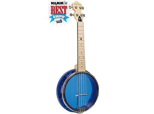 Gold Tone Little Gem Ukes, 4-String Ukulele, Right, Blue (LG-S) ()