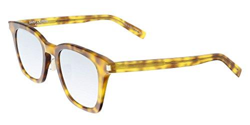 Sunglasses Saint Laurent 138SLIM SLIM 138 AVANA / SILVER / - Laurent Sunglasses Womens Saint