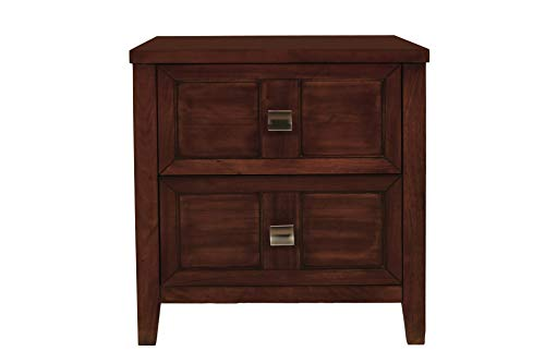New Classics Five Drawer Chest - New Classic 00-131-15C Ridgecrest 5-Piece Bedroom Set Eastern King Storage Bed, Dresser, Mirror, Nightstand, Chest of Drawers, Distressed Walnut
