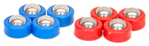 Carrom Shuffleboard Equipment Set, Red/Blue (Shuffleboard Pucks)