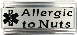 - Allergic To Nuts Medical Alert Italian Charm Bracelet Jewelry Link