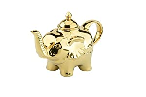The drh collection 39 blingaphant 39 elephant shaped ceramic teapot in gold 901194 873 - Elephant shaped teapot ...