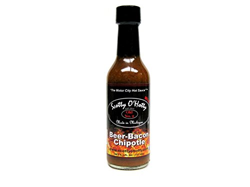 Scotty O'Hotty Beer-Bacon Chipotle Hot Sauce (Rooster Sauce Hot)