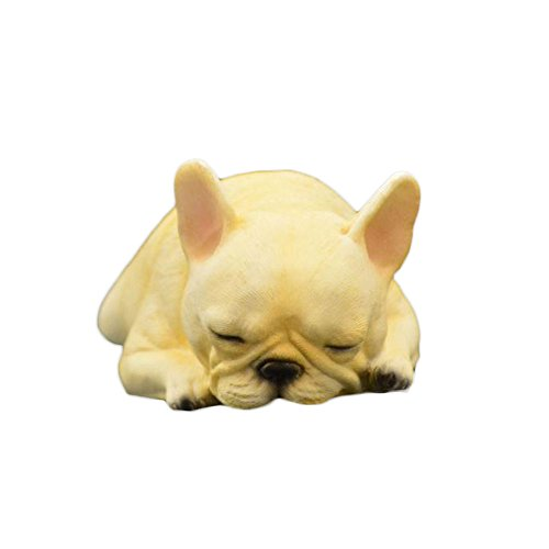 PET SHOW Action Figure Accessories Sleeping Posture Bulldog Model Figure for Car Dashboard Home Cars Vehicle Office Computer Desk Decorations Resin Cute Pet Doll 5.9