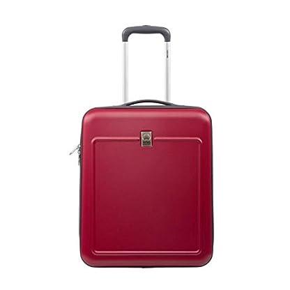 Delsey visado-Maleta de cabina, policarbonato y abs 2 ruedas easy fly 50 cm, color rojo