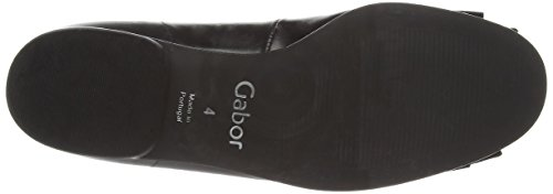 Gabor Shoes - Gabor, Ballerine Donna, Nero (Black (Black Leather/Patent)), 44