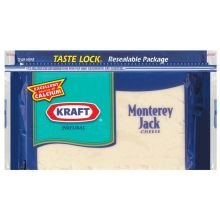 Kraft Natural Monterey Jack Chunk Cheese, 8 Ounce - 12 per case.