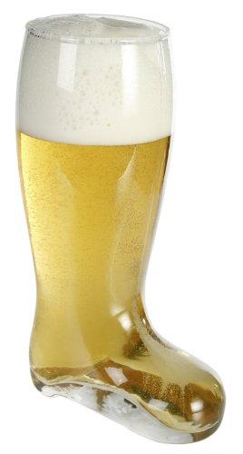 Bierstiefel XL - aus Glas, Fassungsvermögen: 800 ml.