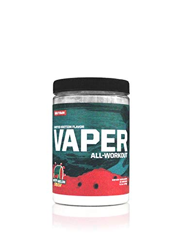 Vaper All-WorkoutTM (No Crash/No Jitters Pre-Workout + Vegan BCAAs + Thermogenic Fat Burner + Electrolyte Hydration) 4 Products in 1 Drink! (Watermelon Crush)