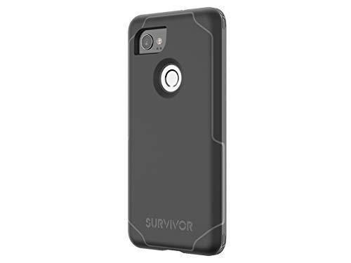 Griffin, Google Pixel 2 XL Case, Survivor Strong, Slim Protective, 7 Ft Drop Protection, Non-SLP Grip Black/Deep Grey
