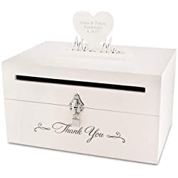 Things Remembered Personalized Mr Mrs Mail Slot Wedding Card Box Engraving Included