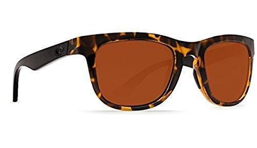 Costa Copra Sunglasses Shiny Retro Tort with Black Temples Copper