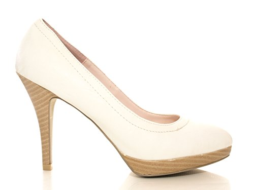 Damen Pumps Weiß # 6605