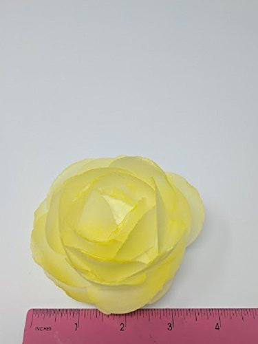3D Edible Rice Rose Paper Flower for Cake Decoration, 3D Cake Toppers, Yellow. (Rice Edible Flower Paper)