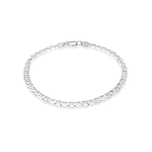 (Honolulu Jewelry Company Sterling Silver 4.5mm - 8mm Mariner Link Chain Necklace or Bracelet (4.5mm - 8 Inches))