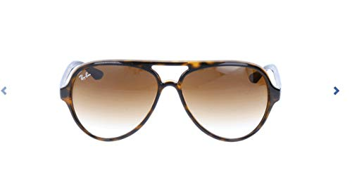 Ray-Ban RB4125 Cats 5000 Aviator Sunglasses, Light Tortoise/Brown Gradient, 59 ()
