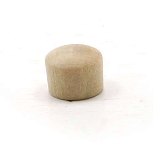 (Mylittlewoodshop - Pkg of 25 - Roundhead Plug Button - 1/4 inches in diameter unfinished wood(WW-BR0250-26))