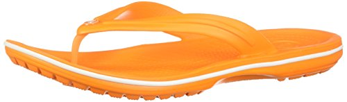 Crocs Unisex Crocband Synthetic Flip-Flops Blazing Orange-White Size EU 38-39 - US M6W8