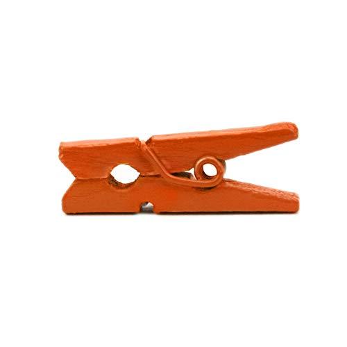 LWR Crafts Wooden Mini Clothespins 100 Per Pack 1 2.5cm (Orange)