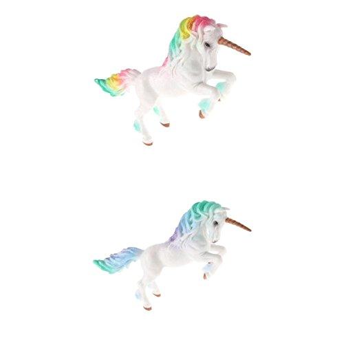 Perfk リアル ユニコーンモデル 子ども おもちゃ 置物 コレクション ユニコーン 動物模型 モデル 全2点 コレクションの商品画像