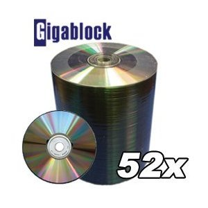 600pcs Gigablock CD-R 52x 700MB 80Min for Music Data Movie Game Software back up by Gigablock
