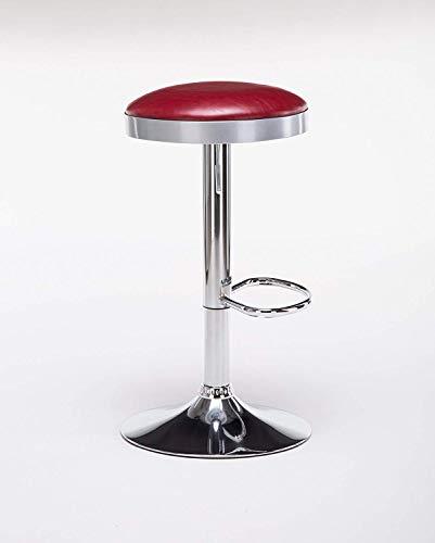 Boraam 98010 Copley Backless Stool, 1-Pack, Adjustable Height, Red by Boraam (Image #1)