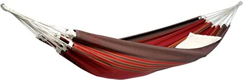 BYER OF MAINE Paradiso Hammock, Handwoven, Polyester Cotton Blend, Terra Cotta, Double, 142 L x 68 W, Holds up to 400lbs
