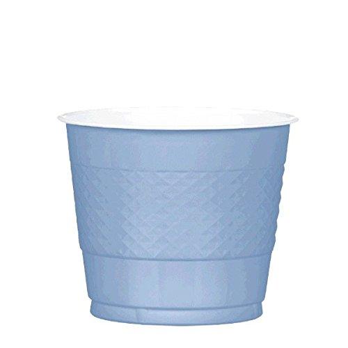 Amscan Reusable Party Plastic Cups (20 Piece), Pastel Blue, 3.6 x 3.8