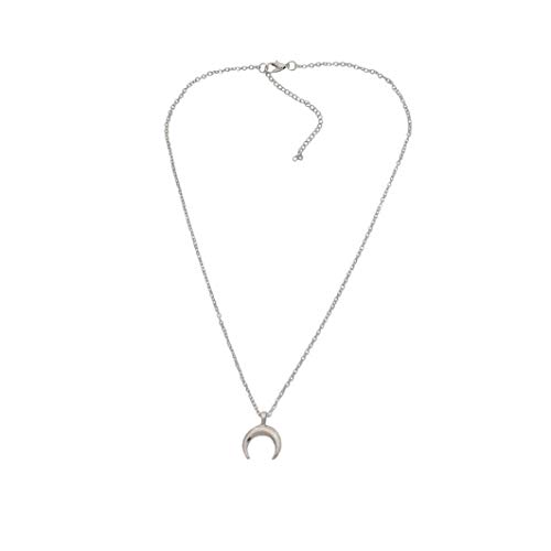 YJYdada Pendant, Crystal Heart Necklace for Women Romantic Fashion Classic Luxury Rhinestones (Silver)