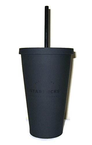Starbucks Acrylic Cold Cup Grande Tumbler - Matte Black, 16 Fl Oz