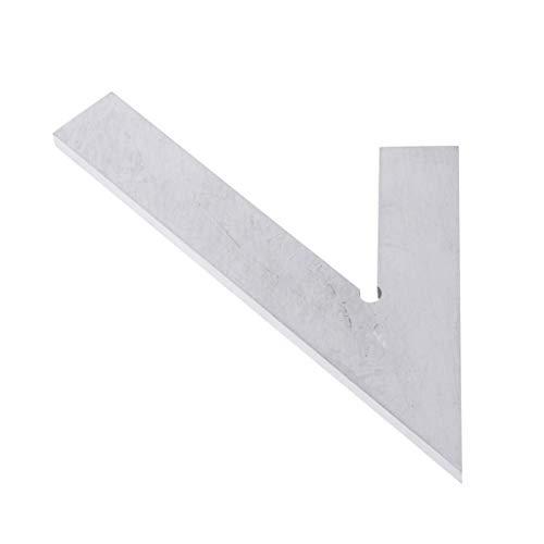 gazechimp 45度 正方形 角度定規 ルーラー 木工ツール レイアウトツール 全3サイズ - 14.5x7cm