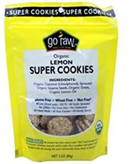 product image for Goraw Organic Lemon Super Cookie, 3 Ounce -- 12 per case. by Go Raw