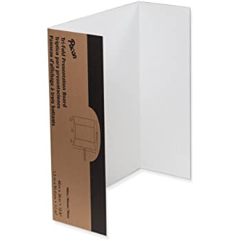 3-Pack 36 x 48 Inch BAZIC Tri-Fold Corrugated Presentation Board