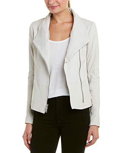 Vince Womens Asymmetric Leather Jacket, S