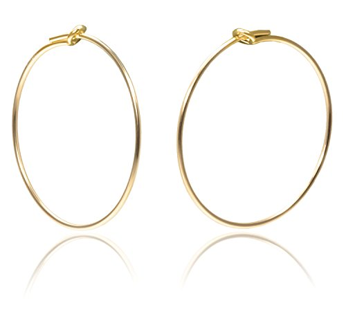 14K Gold Fill Beading Hoop 20mm Qty=6 ()