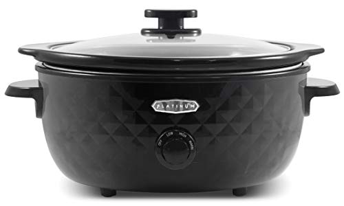 Elite Gourmet Maxi-Matic MST-1234 Diamond Pattern Slow Cooker Removable, Dishwasher-Safe Stoneware Pot with Tempered…