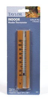 Wood Indoor Window Thermometer