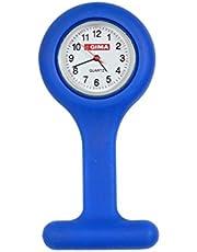 Orologio per infermieri in silicone, quandrante rotondo, BLU