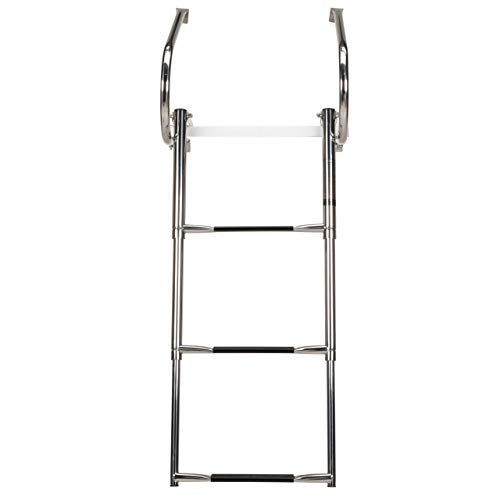 - Seachoice 71361 Universal Swim Platform with Top-Mount Telescoping Ladder - 3 Step Ladder - Inboard/Outboard