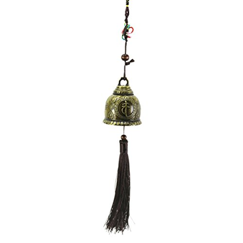 Cheap Patgoal Wind Chime,Chinese Knot Buddha Antique Copper Windchime Luck Bless for Good Luck Fortune Home Car Crafts Hanging Decoration Gift