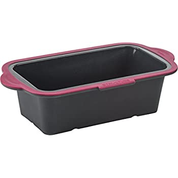 Trudeau 09912096 Structure Silicone Loaf Pans, Grey/Pink